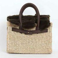 取り外し ファーフラップ付き カゴ バッグ Fur Flap Basket Bag Liala
