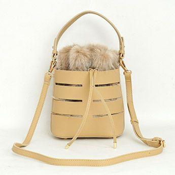 フェイクレザー & エコファー ポーチ 3Way ショルダーバッグ Fake Leather × ECO Fur Pouch 3Way Shoulder Bag Liala