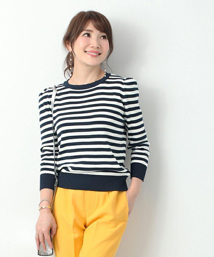 新色追加/日本製/長袖/ゴム地編み/カジュアル/綺麗め/袖口リブ