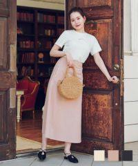 デニム カラー マキシ スカート Airi × mimi