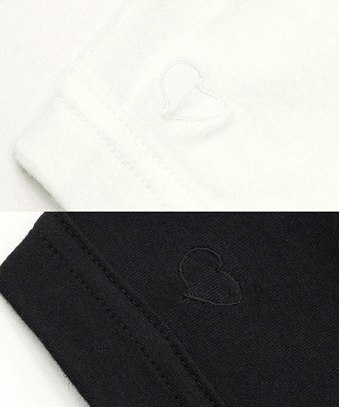 コットンベース Tシャツ ハート刺繍 Joint Space×93_0920