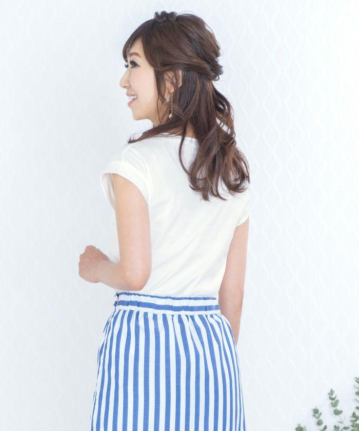 日本製/Tシャツ/ロゴ/プリント/シンプル/カジュアル/S/M