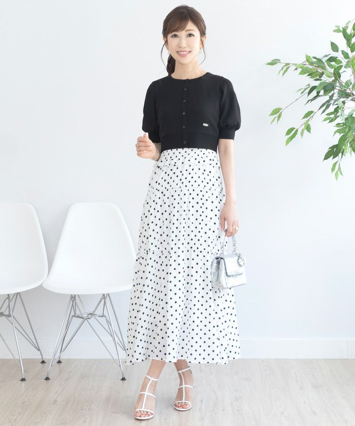 カーディガン/シンプル/半袖/コンパクト/S/M
