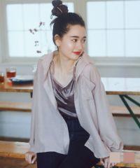 シャツ シアー 開襟 Airi Kato Tina×mimi toujours