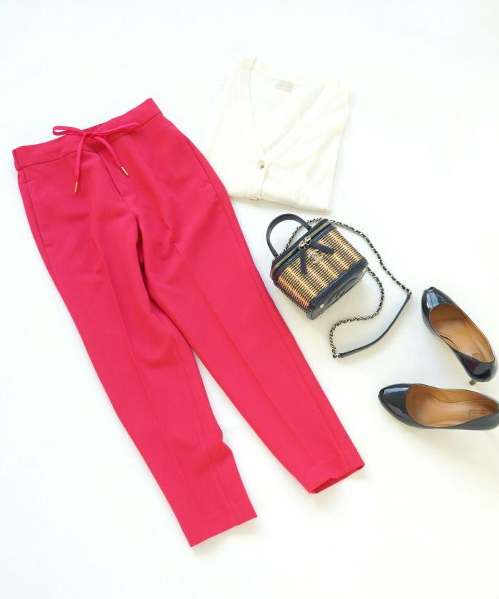 ウエストゴム/ストレッチ/ドロスト/綺麗め/大人カジュアル/上品/春/夏/秋/OL