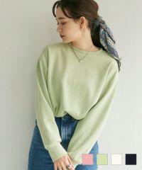 プルオーバーユニセックス袖刺繍AiriKatoTina×mimitoujours