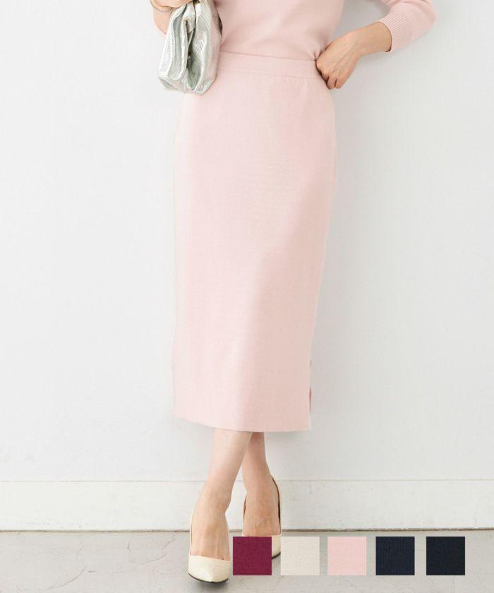ニットタイトスカート裾スリットLiala×PG