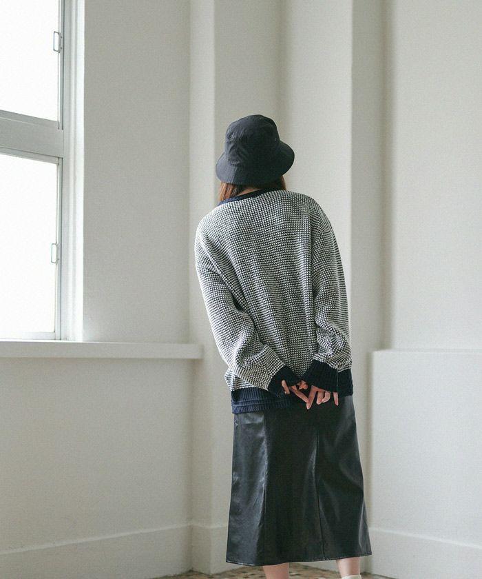 バケットハット/ハット/帽子/小物/ホワイト/オレンジ/ブラック