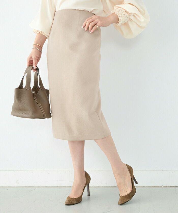 ★スカートIラインタイト起毛素材Liala×PG全3色|lpg612-0944【1】