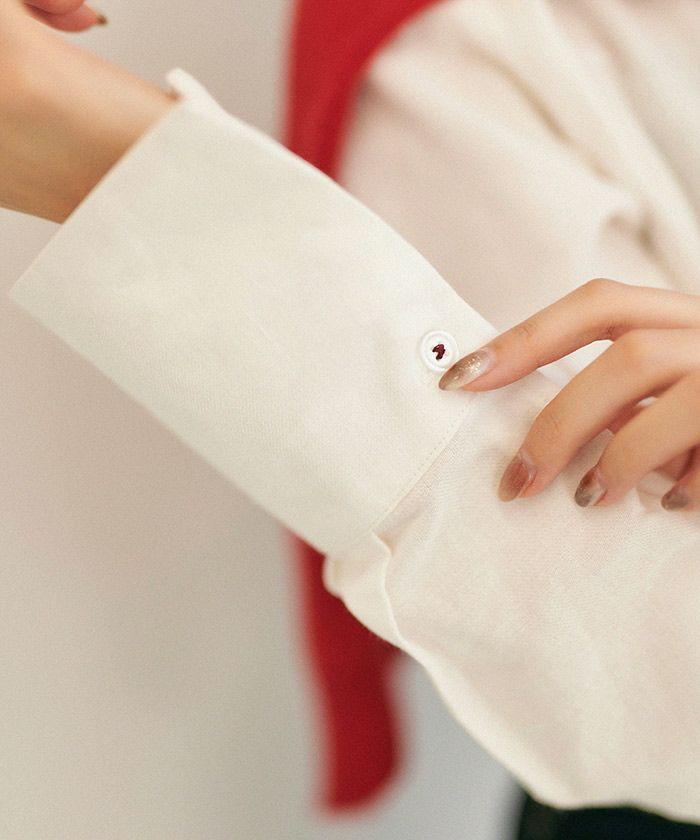 手洗い可/シャツ/長袖/ジェントルベアリーグ/アイボリー/ネイビー
