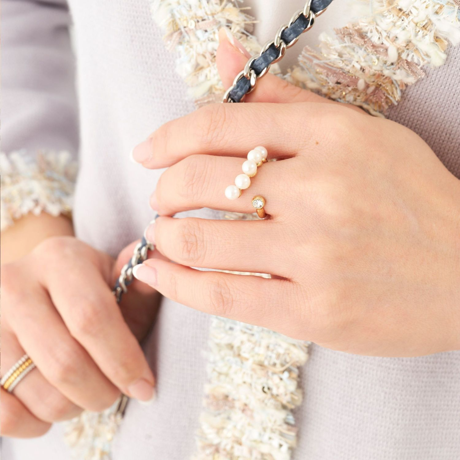 カーブ パール リング Curve Pearl Ring