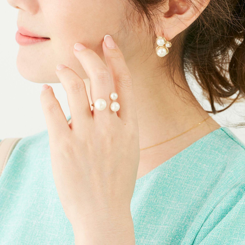 スリー パール リング Three Pearl Ring