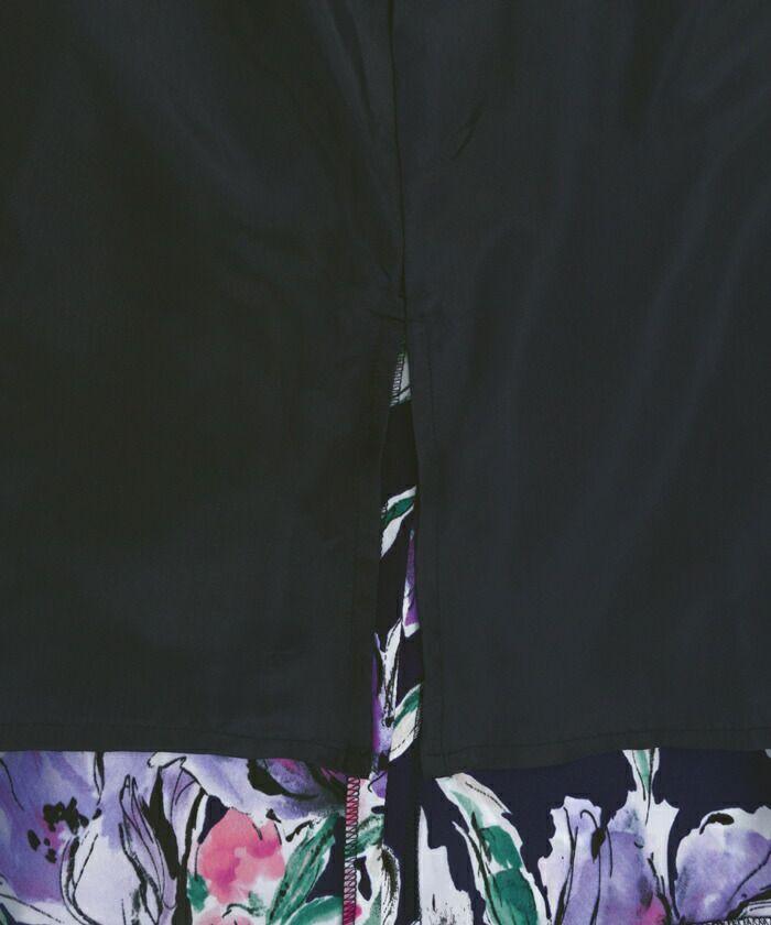 日本製/フレア/ミモレ丈/プリント柄/大花/線画/手書き風/ロング丈/花柄/大花/ホワイト/ネイビー/ピンク/上品/フェミニン/きれいめ/裏地付き/ビックフラワー/花柄プリント