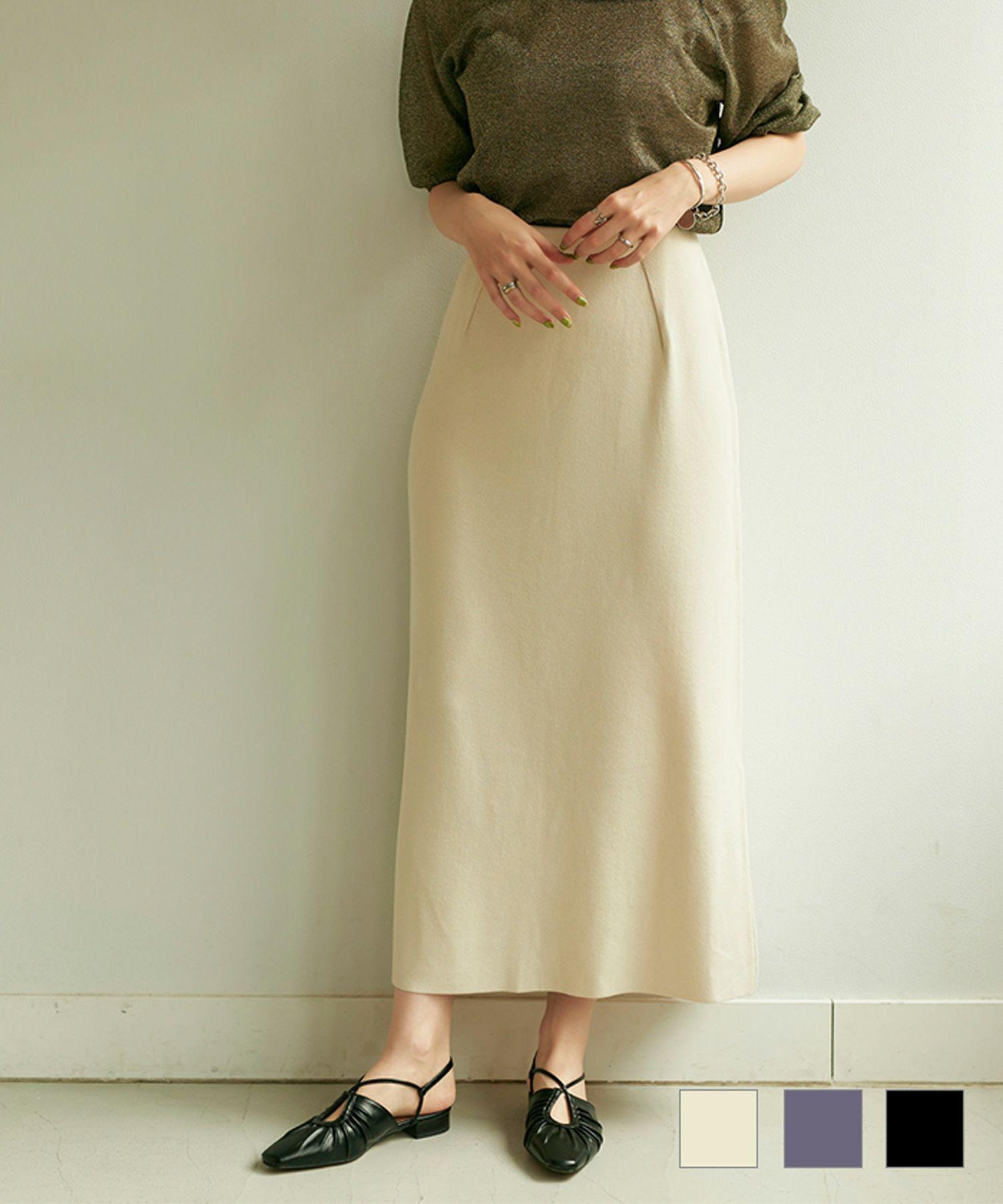 Aライン ニットスカート TINA:JOJUN