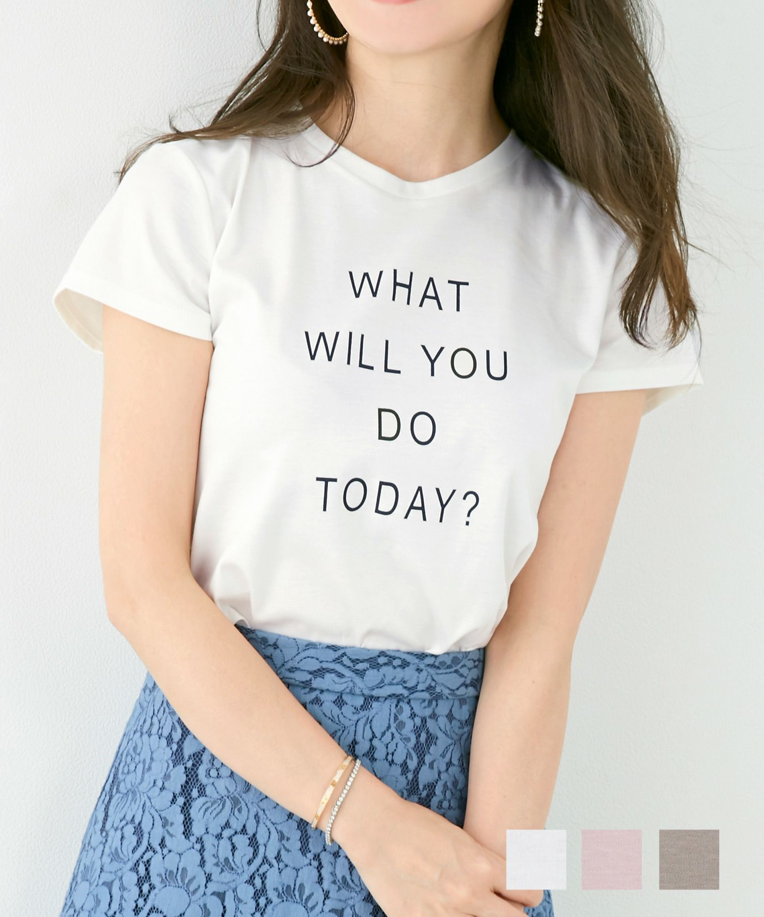 Tシャツ 汗じみ軽減&接触冷感 メッセージロゴ Liala×PG